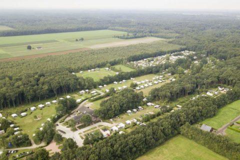 Camping Reeënwissel luchtfoto