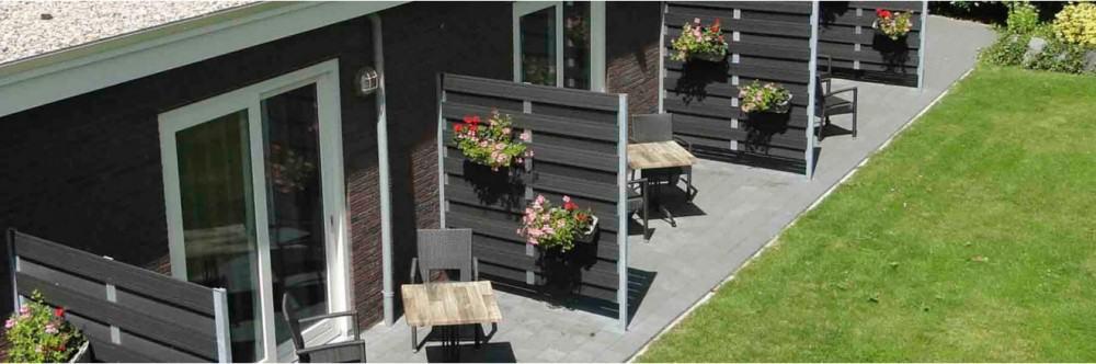 De Wapser Herberg terrassen hotelkamers