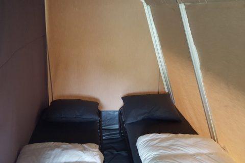 Boscamping Appelscha Lodge tent slaapcabine