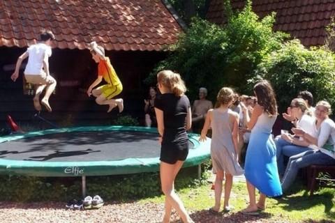 Te Hooi en Te Gras trampoline
