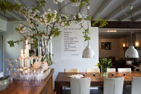 B&B Herberg Het Volle Leven Vegetarisch Restaurant Interieur